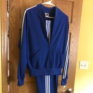 Vintage Men's Royal Blue Tracksuit (Size M)